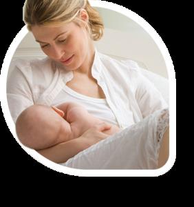 Enfermera del bebé - Lactancia materna feliz